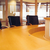Conference table:  Natural white ash.